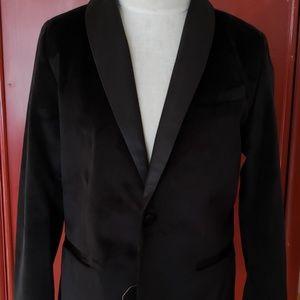 Zara boy black velvet blazer size 9
